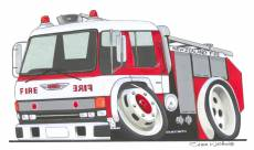 New Zealand Fire Brigade caricature.  » Click to zoom ->