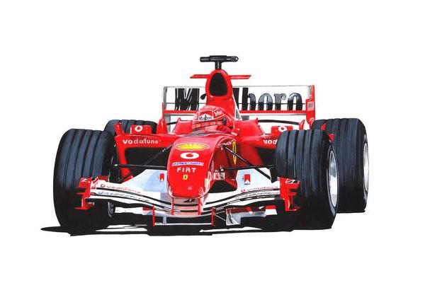 Ferrari Formula 1 Car Cartoon